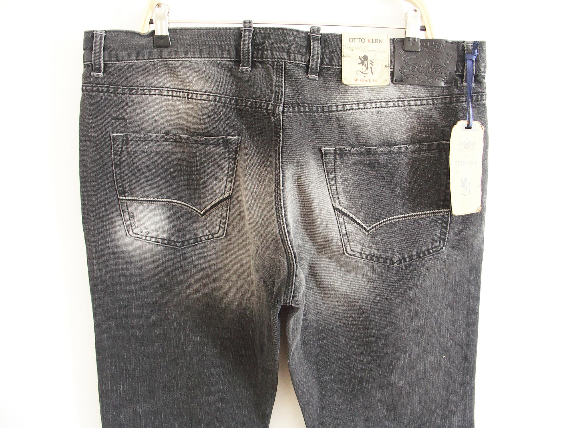 original otto kern herren jeans rich hose grau regular fit. Black Bedroom Furniture Sets. Home Design Ideas