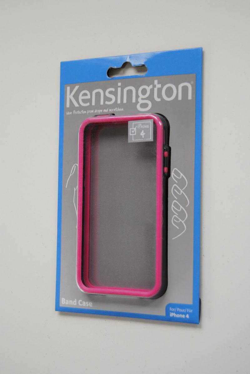 Kensington-Band-Case-Premium-Huelle-Tasche-fuer-iPhone-4-und-4S-pink-Neu-OVP-K028