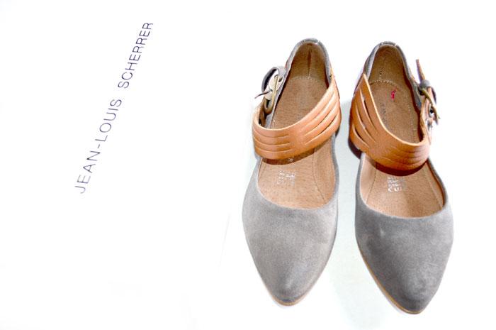 Original Jean Louis Scherrer Dassia Ballerina Damen Schuhe Leder NEU Gr. 36 SB66